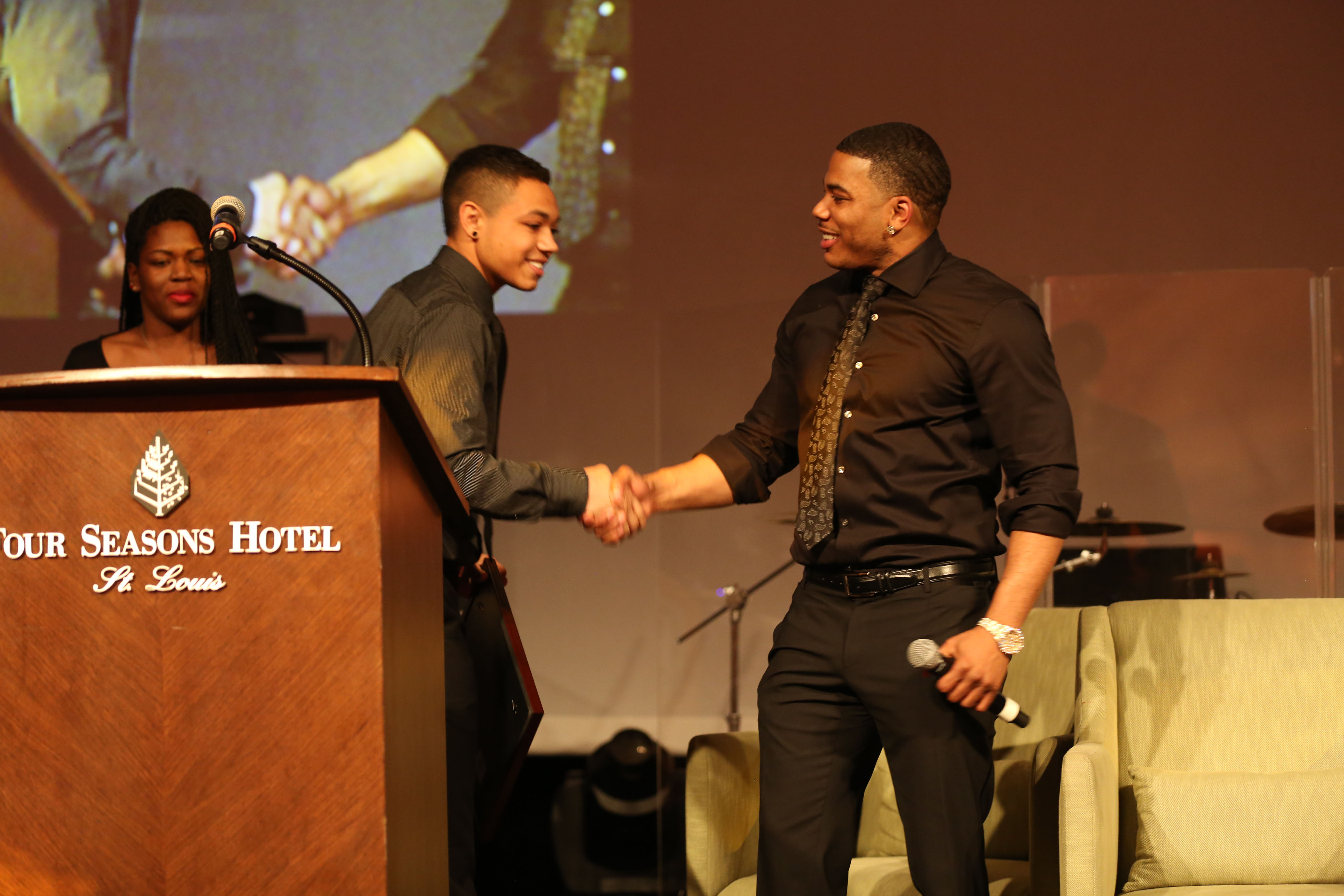 2013  2014 black and white ball scholarship recipient  nelly