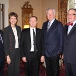 Jim Castellano, Tammy Krebel, Peter Neidorff, Bob O'Loughlin, Dr. Dennis Golden, president