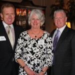 Gary Krosch, board of trustees chair, and Patty Krosch, Randy Loechner, vice president for institutional advancement