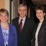 Suzanne Swope, vice president of enrollment management, Gary Zack, vice president-finance/administration, Tammy Krebel
