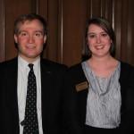 Peter Neidorff, Lauren Sauer, director of development events and constituency relations