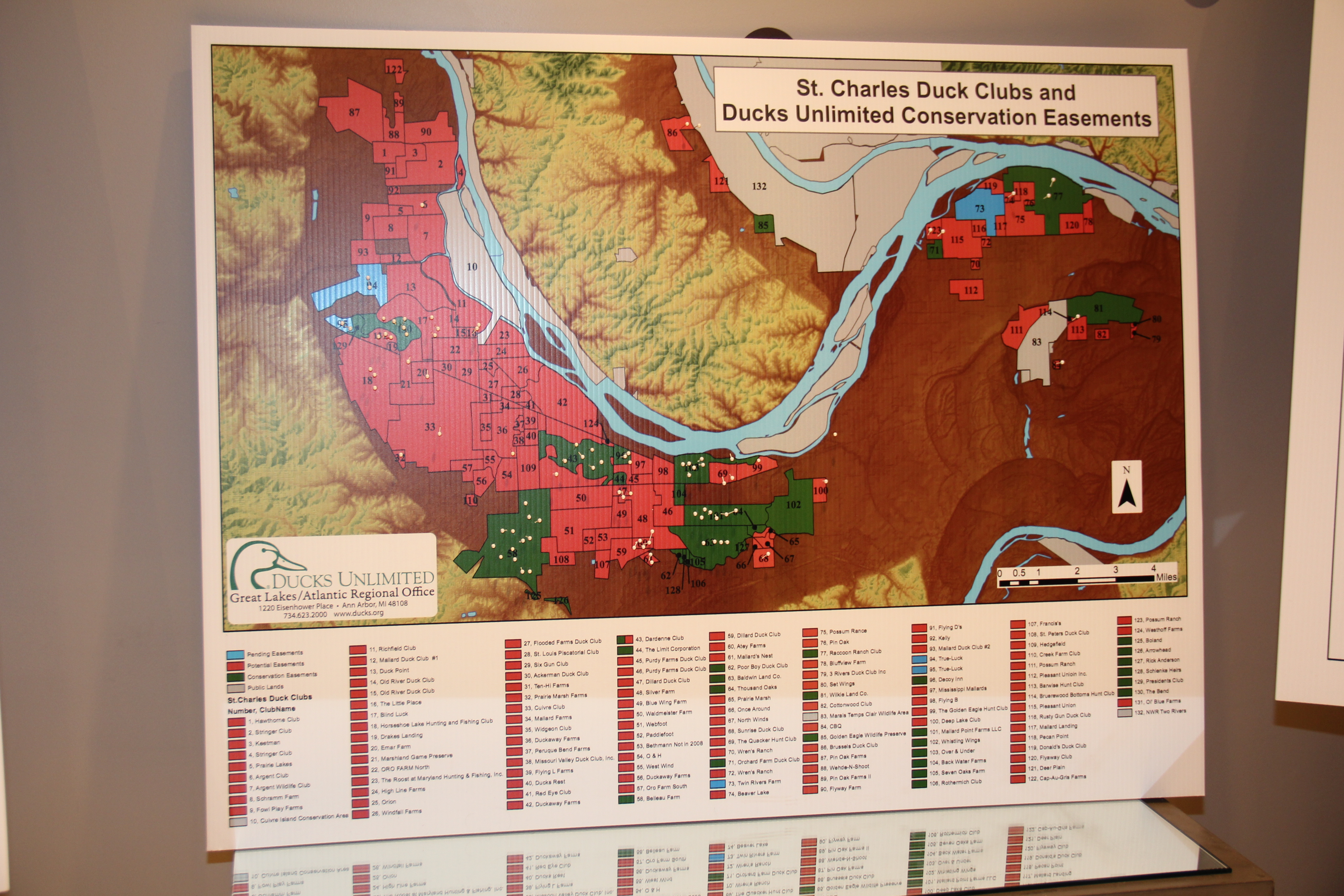 map of st charles duck clubs and ducks unlimited