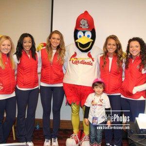 Molly with Fredbird and Team Fredbird