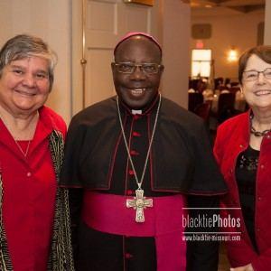 Sr. Toni Temporiti, Bishop John Baptist Kaggwa, Sr. Janet Dohr
